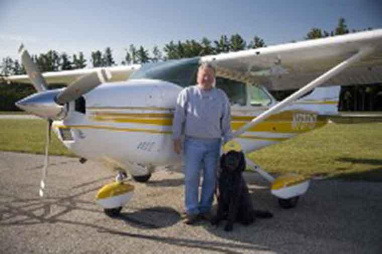 Jack Ready dog and plane