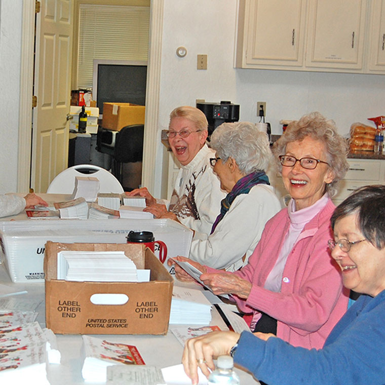 ladies working on an ltbhs mailer